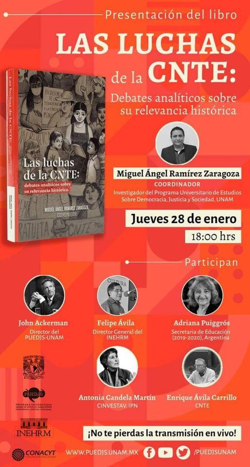 """Presentación del libro """"Las luchas de la CNTE: Debates analíticos sobre su relevancia histórica."""""""