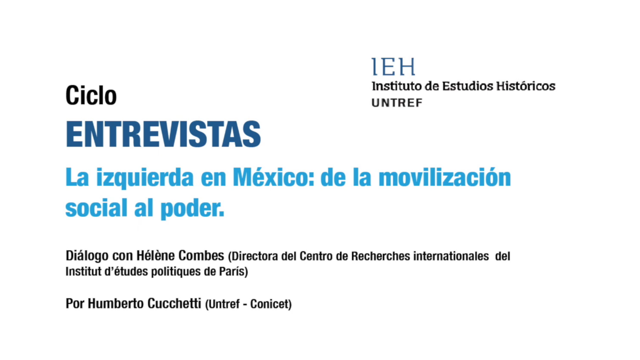 """Consulta la entrevista a Hélène Combes: """"La izquierda en México..."""""""